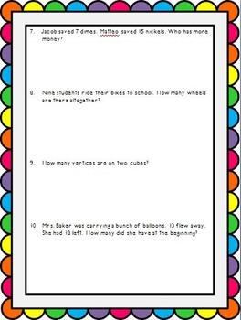 I'm a Math Master! Cumulative Review Assignment/Test for Grade 2