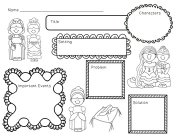 I'm a Princess Mini Unit~ Includes Graphic Organizers & Much More!