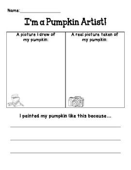 I'm a Pumpkin Artist