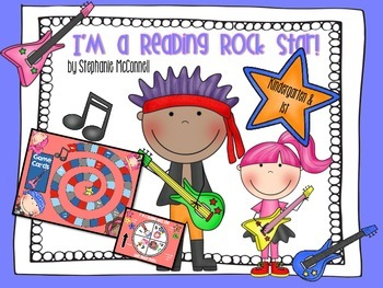 I'm a Reading Rock Star Board Game- Kindergarten & First Grade