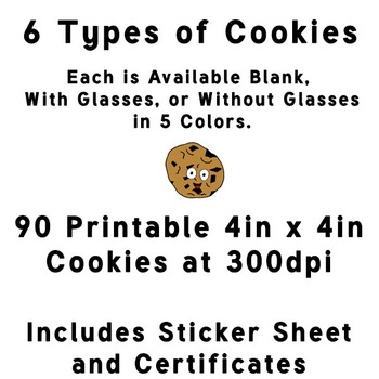 """""""I'm a Smart Cookie!"""" Themed Images, Certificates and Stickers for Classroom"""