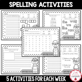 I'm a Spelling Whiz! - 9 Weeks of Spelling Materials and Tests {Pack 1}