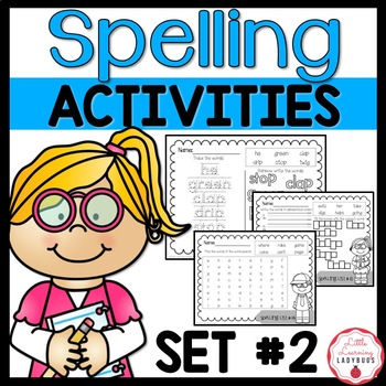 I'm a Spelling Whiz! - 9 Weeks of Spelling Materials and Tests {Pack 2}