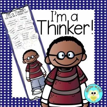 Critical Thinking:  I'm a Thinker! InfoGraphic (Boy Version)