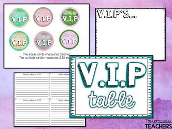 I'm a V.I.P {classroom management strategy}