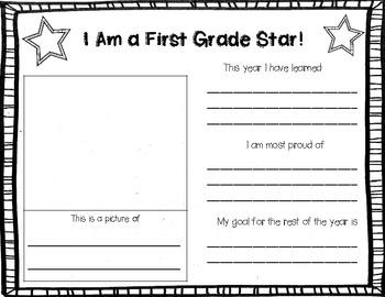 I'm a ___ Grade Star {Student Reflection}
