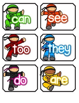 I'm a sight word NINJA! -Teacher Appreciation FREEBIE #1
