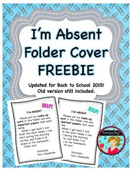 I'm Absent Folder FREE