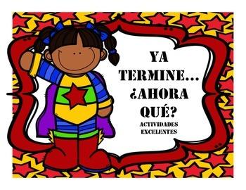 I'm done, now what? Spanish and English SUPERHERO