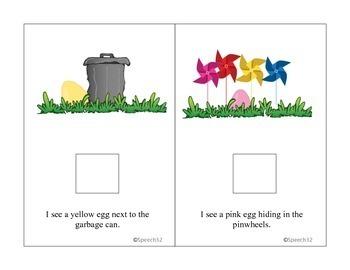 Spring Interactive book for Easter Egg Hunt