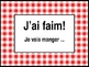Nourriture (Food in French) J'ai faim Activity