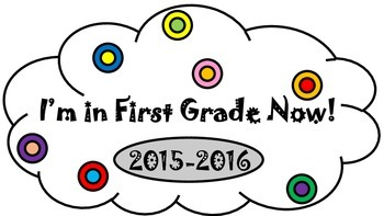 I'm in First Grade Now! Bubble Flag