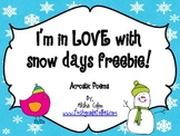 I'm in LOVE with snow days FREEBIE acrostic poems