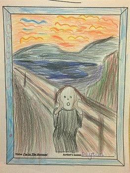 I'm in The Scream! - Lines in Art worksheet