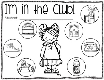 I'm in the Club! Monthly Challenges for K-2