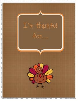 I'm thankful for... {freebie}