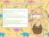 I'm the Easter Bunny - Easter song and activities for practicing do-mi-so-la