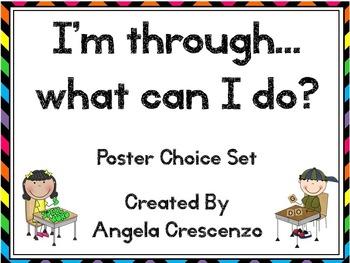 I'm through...what can I do? Poster Set