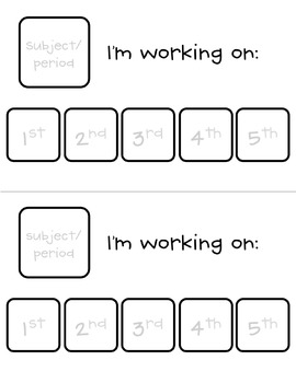 """""""I'm working for"""" and """"I'm working on"""" Cards"""