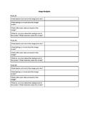Image Analysis Sheet