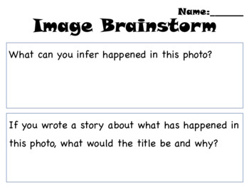 Image Brainstorm (Activate Prior Knowledge)