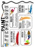 Image Grammar -- Paint Techniques Handout FREEBIE