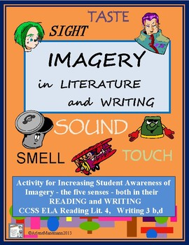 IMAGERY ACTIVITY - The Five Senses in Literature or Student Writing