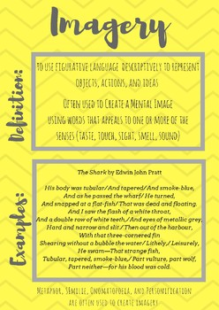 Imagery Figurative Language Poster Download by Caitlin
