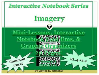 Imagery Interactive Notebook Graphic Organizers Fold-Ems