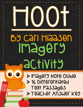 Imagery Lesson Activity for Hoot by Carl Hiaasen