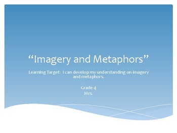 Imagery & Metaphors Powerpoint