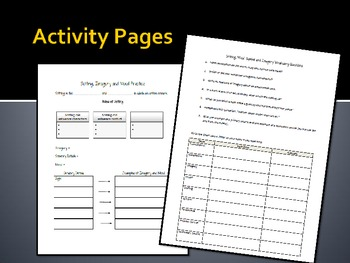 Imagery, Mood, Setting and Symbol PPT, Notes and Activity Pages