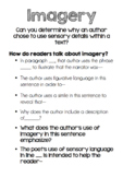 Imagery STAAR question stems