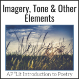 Imagery, Tone & Poetic Elements Notes for Classroom and Di