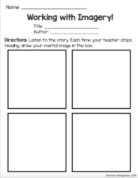 Imagery / Visualization Read Aloud Boxes