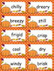 Imagery Word Cards and Fall Themed Writing Paper/Build Descriptive Phrases