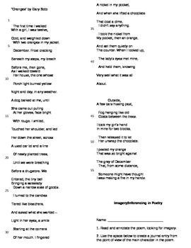 """Imagery and Inferencing in Poetry - """"Oranges"""" by Gary Soto"""