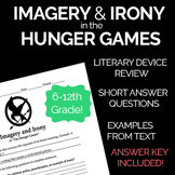 Imagery and Irony in the Hunger Games -- Novel Study Worksheet