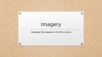 "Imagery - the five senses - more than just ""seeing it"""
