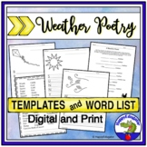Creating Imagery with Weather Poems - Poem Templates and Weather Adjectives List