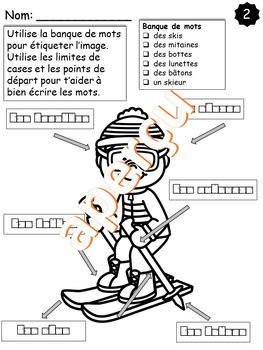 Images à étiqueter - L'hiver #1 (French, FSL)