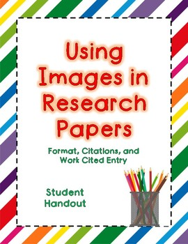Images In Research Papers Mla Format By Kimberly Nunez Tpt