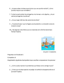 Imagina Chapter 5 Speaking  & Writing with Vocabulary and Conditional practice
