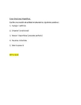 Imagina Chapter 10 - Vocabulary Quiz