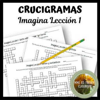 Imagina Lección 1 Crucigramas Vocabulary and grammar crossword puzzles