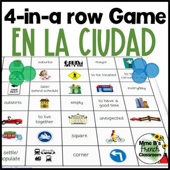 Imagina Lección 2 4-In-A-Row game: En la ciudad