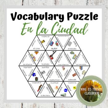 Imagina Lección 2 Vocabulary puzzle: En la ciudad