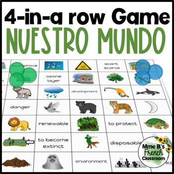 Imagina Lección 5 4-In-A-Row game: Nuestro mundo