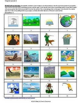 Imagina Lección 5: Nuestro mundo  partner matching activity