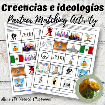 Imagina spanish answer imagina lecci n 6 creencias e ideolog as partner matching activity rh teacherspayteachers fandeluxe Gallery